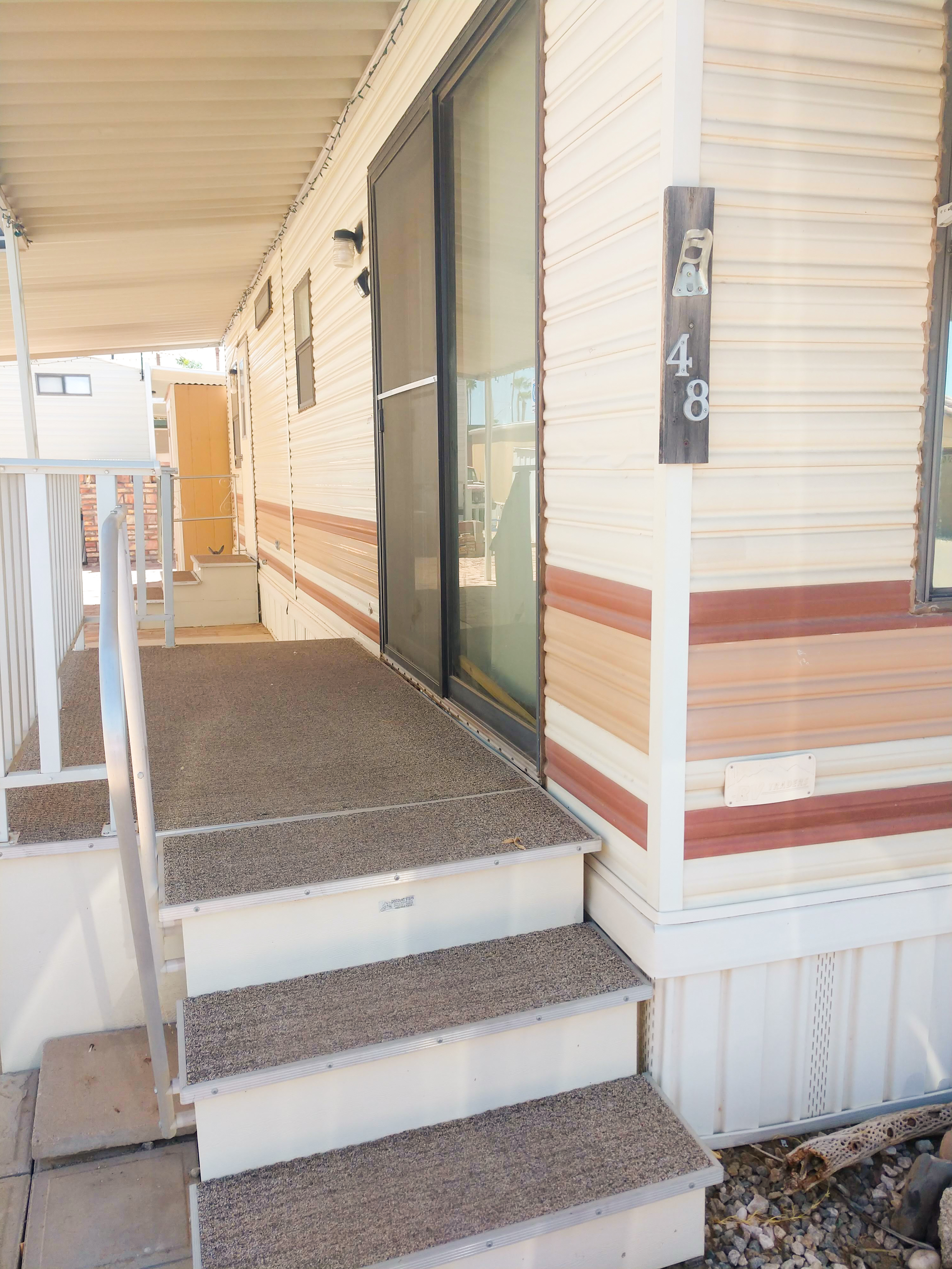 On-site laundry and other amenities at RV park